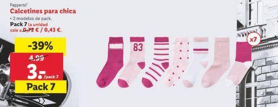 Oferta de Calcetines para chica Pepperts por 3€