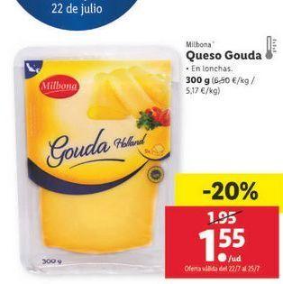 Oferta de Queso gouda Milbona por 1,55€
