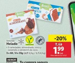 Oferta de Helado Vemondo por 1,99€