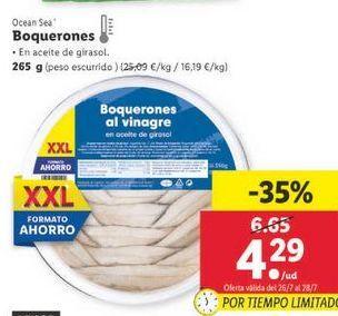 Oferta de Boquerones en vinagre Ocean Sea por 4,29€