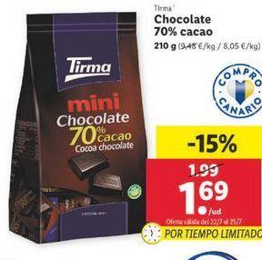 Oferta de Chocolate 70% cacao Tirma por 1,69€