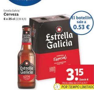 Oferta de +x 25 cl Cerveza Estrella Galicia por 3,15€