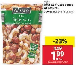 Oferta de Mix  de frutos secos al natural Alesto por 1,99€