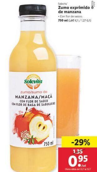 Oferta de Zumo de manzana Solevita por 0,95€
