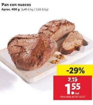 Oferta de Pan con nueces por 1,55€
