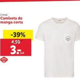 Oferta de Camiseta de manga corta Livergy por 3€