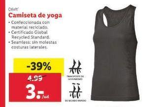 Oferta de Camiseta de yoga Crivit por 3€