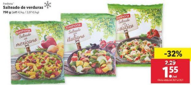 Oferta de Salteado de verduras Freshona por 1,55€