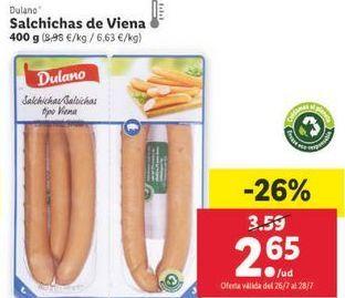 Oferta de Salchichas Dulano por 2,65€