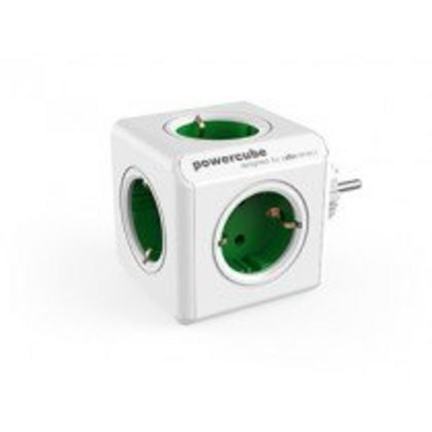 Oferta de Allocacoc PowerCube Original base múltiple 5 salidas AC Interior Verde, Blanco por 10,25€