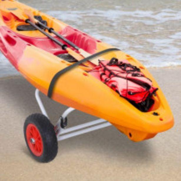 Oferta de Carro de Transporte HOMCOM Kayak Plegabl por 69,99€