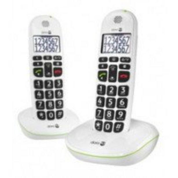 Oferta de Doro PhoneEasy 110 Teléfono DECT Identificador de llamadas Blanco por 61,5€