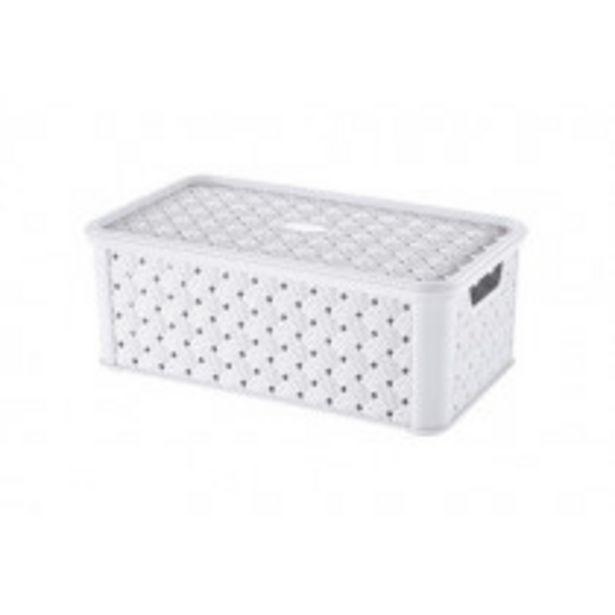 Oferta de Tontarelli Arianna Caja de almacenaje Rectangular Polipropileno (PP) Blanco por 4,75€