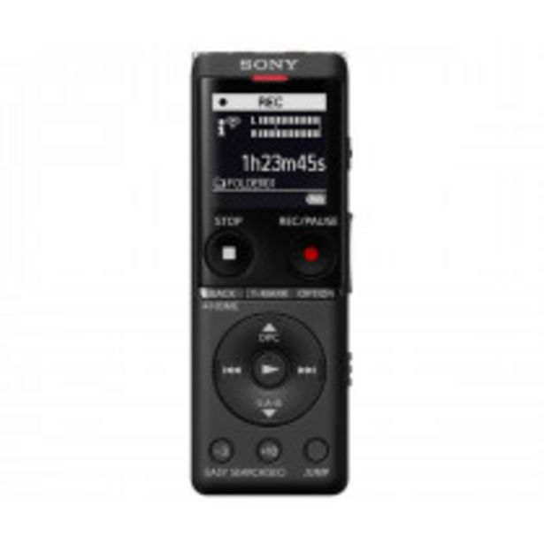 Oferta de Sony ICD-UX570 dictáfono Memoria interna y tarjeta de memoria Negro por 104,75€