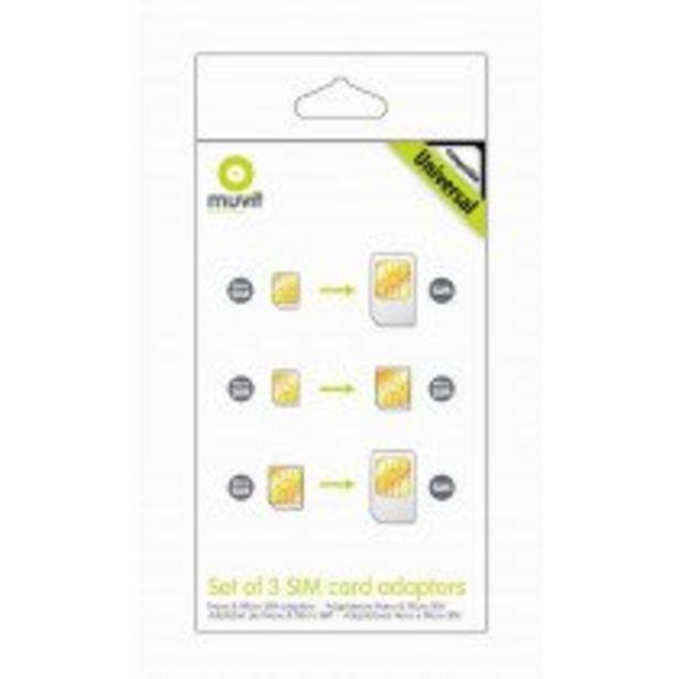 Oferta de Muvit MUMIC0003 adaptador para tarjeta de memoria sim / flash SIM card adapter por 6,75€
