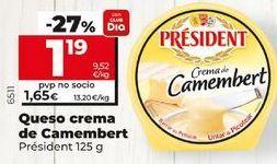 Oferta de Camembert Président por 1,59€