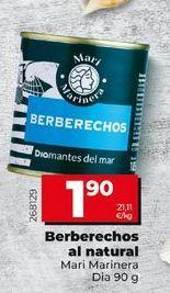 Oferta de Berberechos en conserva por 1,9€