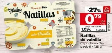 Oferta de Natillas de vainilla por 0,99€