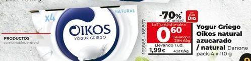 Oferta de Yogur griego OIKOS por 1,99€