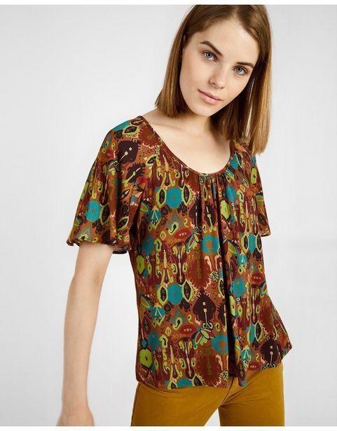 Oferta de Blusa Fluida Estampada por 13,79€