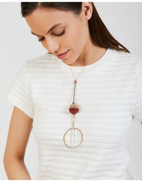 Oferta de Collar Corto En Aro Grande por 19,99€