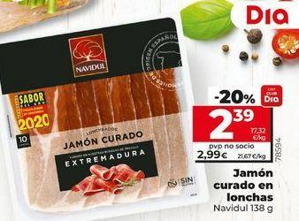 Oferta de Jamón curado en lonchas  Navidul 138 g por 2,39€