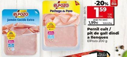 Oferta de Jamón cocido/ pechuga de pavo en lonchas  El Pozo, 200 g por 1,59€