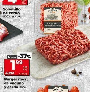 Oferta de Burger meat de vacuno y cerdo 500 g por 1,99€