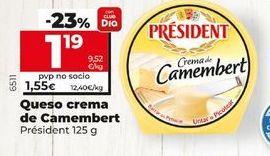 Oferta de Quesocrema de Camembert  Président 125 g por 1,19€