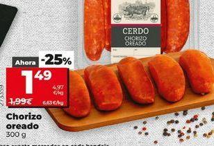 Oferta de Chorizo oreado 300 g por 1,49€