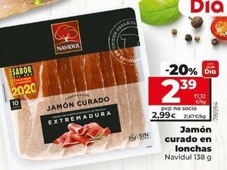 Oferta de Jamón curado Navidul por 2,99€