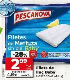 Oferta de Filetes de merluza Pescanova por 3,89€