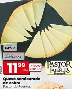 Oferta de Queso semicurado Pastor de Fuentes por 11,99€