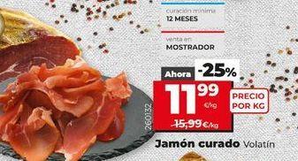Oferta de Jamón curado Volatín por 11,99€