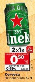 Oferta de Cerveza Heineken por 0,69€