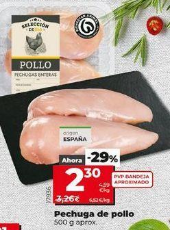 Oferta de Pechuga de pollo por 2,3€