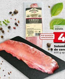 Oferta de Solomillo de cerdo por 4,01€