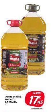 Oferta de Aceite de oliva 0,4 o 1 LA MASIA por 17,45€