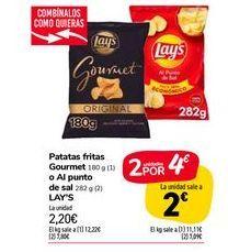 Oferta de Patatas fritas Gourmet o Al punto de sall LAY'S por 2,2€