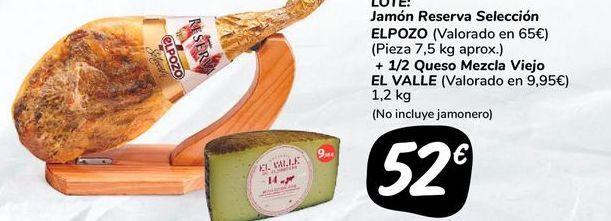 Oferta de Jamón Reserva Seleccion ELPOZO  por 52€