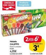 Oferta de Helado CALIPPO por 4,05€