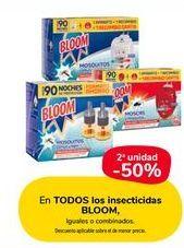 Oferta de En TODOS los insecticidas Bloom, iguales o combinados por