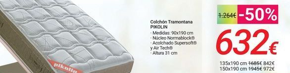 Oferta de Colchón Tramontana PIKOLIN  por 632€