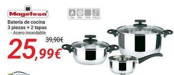 Oferta de Magefesa Batería de cocina por 25,99€