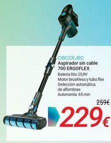 Oferta de CECOTEC Aspirador sin cable 700 ERGOFLEX por 229€