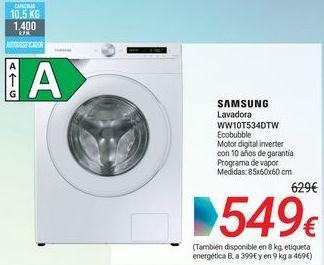 Oferta de SAMSUNG Lavadora WW10T534DTW por 549€