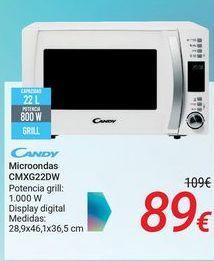 Oferta de CANDY Microondas CMXG22DW por 89€