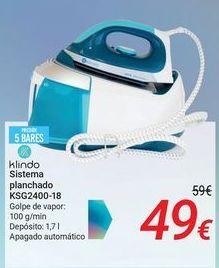 Oferta de Klindo Sistema planchado KSG2400-18 por 49€