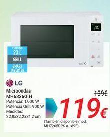 Oferta de LG Microondas MH6336GIH por 119€