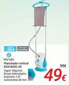 Oferta de Klindo Planchador vertical KGS1800C-20 por 49€